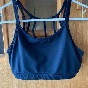 Small, navy blue Athleta sports bra